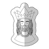 Jesuschrist with crown character religious icon. Vector illustration design Stock Image