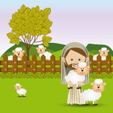 Jesuschrist stock illustration