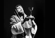 Jesuschrist praying Stock Photos