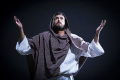 Jesuschrist praying Stock Photography