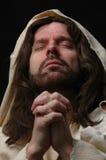jesusin纵向祷告 免版税图库摄影