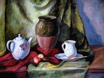 jeszcze herbaty doniczki życia royalty ilustracja
