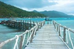 Jetée à l'île de Nangyuan Image stock