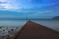 Jetée à la mer d'Irlande, Llandudno, Pays de Galles du nord Photos libres de droits