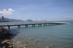 Jetée à Penang Photo stock