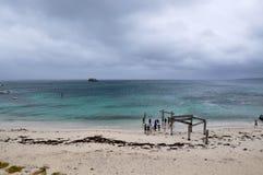 Jetée abandonnée à la baie de Hamelin Photos libres de droits