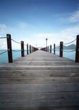 Jetée chez Bohey Dulang Semporna Sabah Malaysia Photographie stock libre de droits
