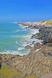 Jetée d'océan - rivière de Coquille, Orégon Image stock