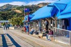 Jetée dans Akaroa Image libre de droits