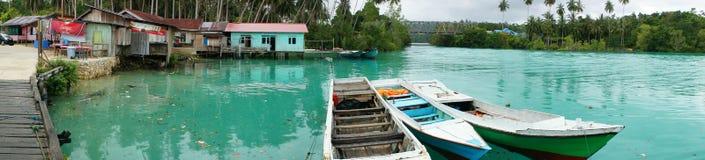 Jetée dans Labuan Cermin Indonésie Photographie stock