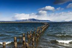 Jetée dans Puerto Natales Photographie stock
