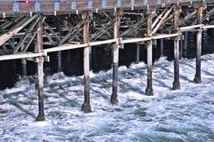 Jetée de bord de la mer à Vancouver image libre de droits