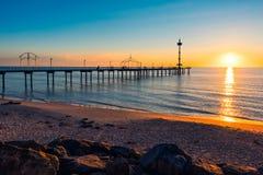 Jetée de Brighton Beach, Australie du sud photos stock