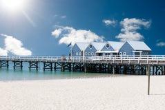 Jetée de Busselton dans l'Australie occidentale photos stock