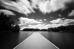 Jetée de club de yacht de Canberra Photos libres de droits