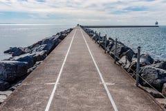 Jetée de deux ports sur le lac Supérieur images libres de droits