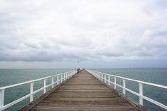 Jetée de Glenelg Image stock