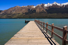 Jetée de Glenorchy Photo stock