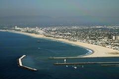 Jetée de Marina del Rey Image libre de droits