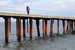 Jetée de mer Photo libre de droits