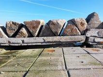 Jetée de mer en pierre Photographie stock
