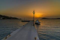 Jetée de Myrties, Kalymnos Photo stock