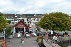 Jetée de Stafa, lac Zurich Photos libres de droits