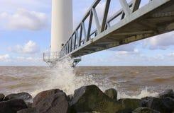 Jetée de turbine de vent Photographie stock libre de droits