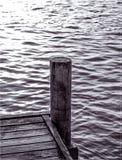 Jetée en noir et blanc Image libre de droits