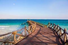 Jetée et mer Photos libres de droits