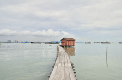 Jetée Georgetown Malaisie de Penang Images libres de droits