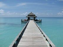 Jetée - Maldives Photos libres de droits