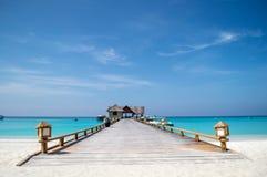 Jetée - Maldives photo libre de droits