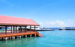 Jetée présidentielle en Maldives Photos stock