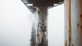 Jetée sur la banque de la mer baltique photos libres de droits