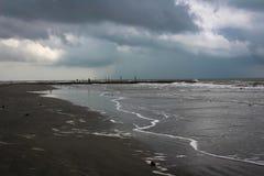 Jetée sur la plage Photo libre de droits