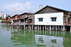 Jetées de clan de Penang Image stock