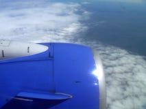 Jet über Wolken Stockbilder