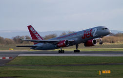 Jet2 εναέριοι διάδρομοι Boeing 757 Στοκ Φωτογραφίες