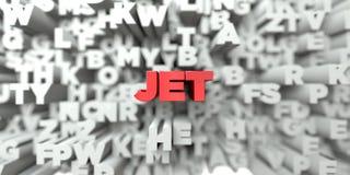 JET - Κόκκινο κείμενο στο υπόβαθρο τυπογραφίας - τρισδιάστατο δικαίωμα ελεύθερη εικόνα αποθεμάτων διανυσματική απεικόνιση