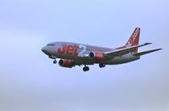 Jet 2 Aircraft. Dateline: 25/Jun/2010 17:50  Newcastle Airport United Kingdom Royalty Free Stock Image