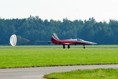 Jet. Photo of the jet on the runway Royalty Free Stock Photography