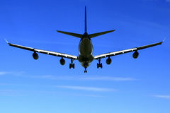 Jet Airbus-A340. Stockfotos