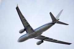 Jet airbus overhead Stock Photos
