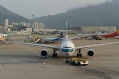 Jet aircraft in airport Stock Photos