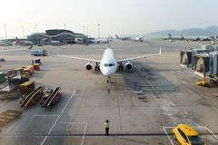 Jet aircraft in airport Stock Image