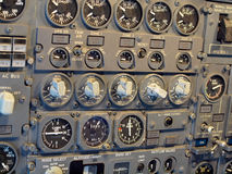 Jet aircraft cockpit Equipment Royalty Free Stock Images