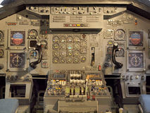 Jet aircraft cockpit Equipment Royalty Free Stock Photo