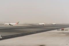 Jet aircraft in Dubai International Airport Stock Photo