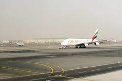 Jet aircraft in Dubai International Airport Royalty Free Stock Image